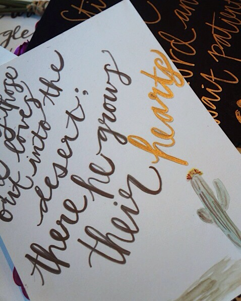 Calligraphy page by paige
